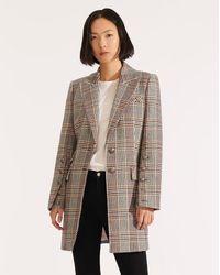 Veronica Beard Reece Plaid Dickey Coat - Multicolour