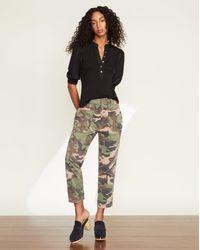 Veronica Beard Arya Patch Pocket Straight-leg Jean - Multicolour