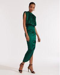 Veronica Beard Kendall Dress Green