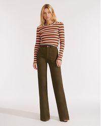 Veronica Beard Crosbie High-rise Wide-leg Pant - Multicolor
