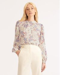 Veronica Beard Ashlynn Floral Blouse - Multicolor