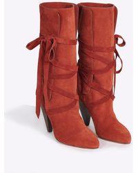 Veronica Beard Hall Boot - Red
