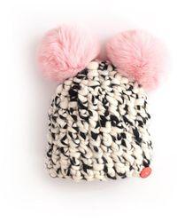 Veronica Beard Kids Mickey Pom-pom Hat - Pink