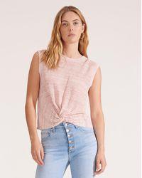 Veronica Beard Kellen Twist-front Sweater - Pink