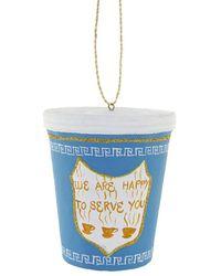 Veronica Beard Cody Foster & Co Nyc Deli Cup Ornament - Blue