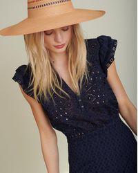 Veronica Beard Satori Eyelet Maxi Dress - Blue