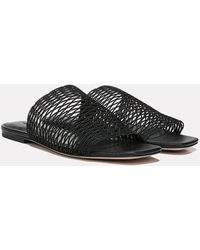 Veronica Beard Martina Woven Sandal - Black