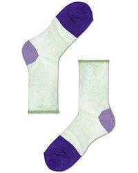 Veronica Beard Happy Socks Franca Ankle Socks - Blue