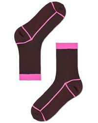 Veronica Beard Happy Socks Liv Crew Socks - Brown