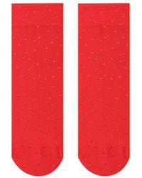 Veronica Beard Tailored Union Love Foiled Nylon Socks