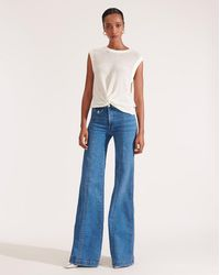 Veronica Beard Ember Wide-leg Jean - Blue