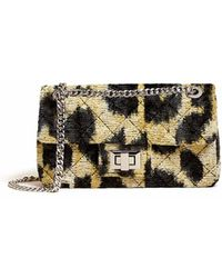 Veronica Beard Leopard Velvet Bandita Bag - Multicolour