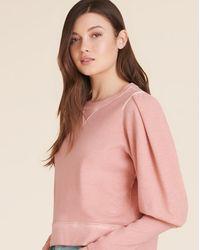 Veronica Beard Analeigh Puff-sleeve Sweatshirt - Pink