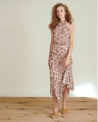 Veronica Beard - Kailey Floral-print Midi Dress - Lyst