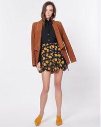 Veronica Beard - Weller Floral-print Flounce Mini Skirt - Lyst