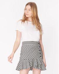 Veronica Beard Villa Skirt - White