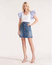 Veronica Beard Deena Patch-pocket Skirt - Blue