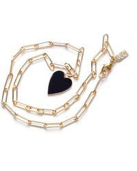 Veronica Beard Rachel Cagner Heart Paper Clip Necklace - Metallic