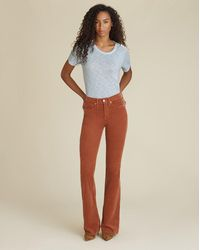 Veronica Beard Beverly High-rise Skinny-flare Corduroy Jean - Multicolour