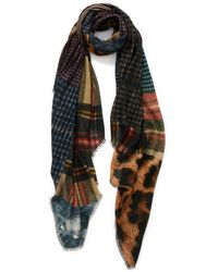 Veronica Beard The Patch Wrap Scarf - Brown