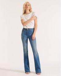 Veronica Beard Beverly High-rise Skinny Flare Jean - Blue