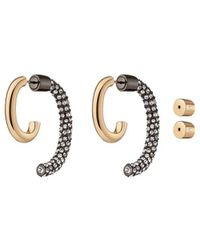 Veronica Beard Pave Luna Earrings - Metallic
