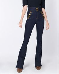 "Veronica Beard - Dalida 11"" Skinny Flare With Double Waistband - Lyst"