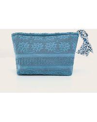 Veronica Beard Lalla Marrakech Walakin Eponge Clutch - Blue