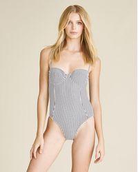 Veronica Beard Bridge One-piece Swimsuit - Gray