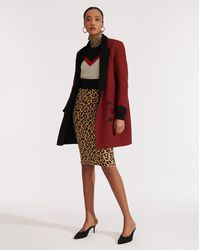 Veronica Beard Senna Double-breasted Coat - Red