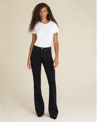 Veronica Beard Beverly High-rise Skinny Flare Jean - Multicolor