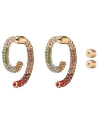 Veronica Beard Multi Pave Luna Earrings - Metallic