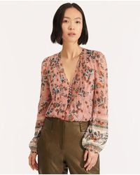 Veronica Beard - Lowell Floral Blouse - Lyst