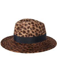 Veronica Beard - Leopard Print Wide-brim Fedora Exclusive - Lyst