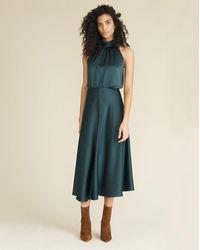 Veronica Beard Gwynie Halter Dress - Green