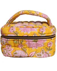 Veronica Beard Ellies And Ivy Emily Makeup Bag - Yellow