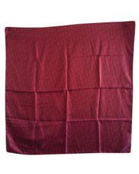 Dior - Burgundy Silk Silk Handkerchief - Lyst