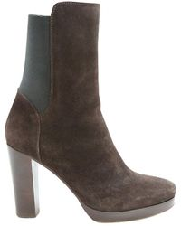 Vanessa Bruno - Pre-owned Brown Suede Ankle Boots - Lyst
