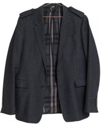 Burberry - Anthracite Cotton Jacket - Lyst