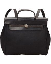 Hermès - Herbag Cloth Backpack - Lyst