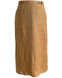 Burberry Linen Maxi Skirt - Multicolor