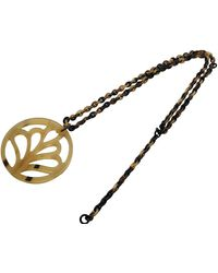 Hermès Horn Long Necklace - Brown