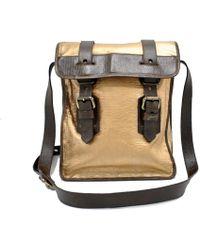 5b588f211e75 Fendi Lui Logo-knit Leather-trimmed Messenger Bag in Brown for Men ...