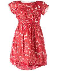 Anna Sui Abiti in cotone rosso