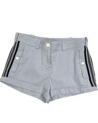 Chanel Navy Cotton Shorts - Multicolour