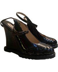 Bottega Veneta Patent Leather Heels - Brown