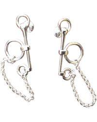 Hermès Silver Earrings - Metallic