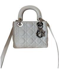 Dior Lady Leder Handtaschen - Weiß