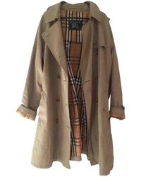Burberry Vintage Khaki Wool Trench Coats - Multicolor
