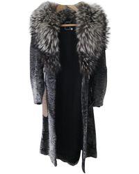 Dior Black Mongolian Lamb Coat